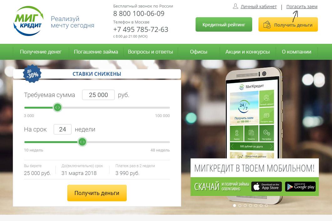 5 способов оплаты МигКредит банковской картой